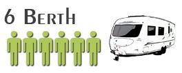 6 berth caravan for Hire