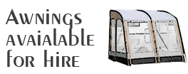 Awnings available for Hire